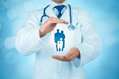 Vård- och medicinsk försäkring fotografering för bildbyråer