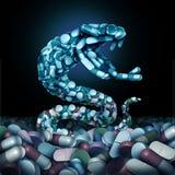 Vård- risk för Opioidsmedicin vektor illustrationer