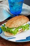 Vård- smörgås med pesto Royaltyfria Foton