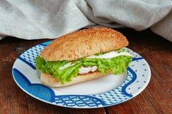 Vård- smörgås med pesto Royaltyfri Fotografi