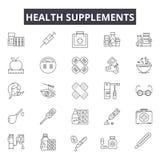 Vård- tillägg fodrar symboler för rengöringsduk och mobil design Redigerbart slaglängdtecken Vård- tilläggöversiktsbegrepp vektor illustrationer