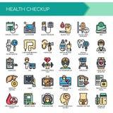 Vård- undersökning, perfekta symboler för PIXEL stock illustrationer