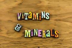 Vård- vitaminmineraltillägg royaltyfri fotografi