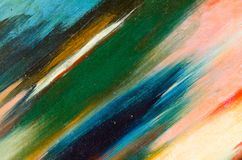 Vårdslösa sudd av vattenfärgmålarfärg på kanfas Royaltyfri Foto