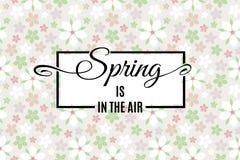 Våren är i luftbokstäver vektor Vektor Illustrationer