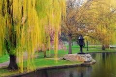 Våren ankommer på Boston vanligt arkivbild