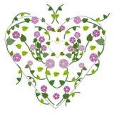 Våren blommar med hjärtabakgrund Royaltyfria Bilder