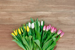 Våren blommar på brädet Arkivbild