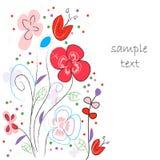 Våren blommar vektorn för hälsningkortet Royaltyfri Fotografi