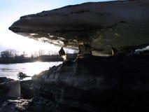 Våren bryter upp på Assiniboinen arkivfoton