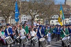 Vårferie ståtar i Zurich Royaltyfria Foton