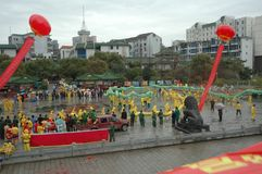Vårfestivalen i Nanchang royaltyfri fotografi