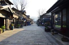 Vårlandskapet av den Nianhua fjärden på Wuxi, Kina royaltyfri foto
