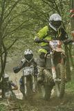 Vårmotocross som springer i Opole royaltyfria foton