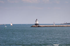 Vårpunkt Ledge Lighthouse Royaltyfri Foto