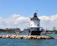 Vårpunkt Ledge Lighthouse fotografering för bildbyråer
