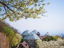 Vårsäsong på den Nunobiki örtagården i Kobe Arkivfoton