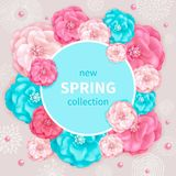 Vårsamlingsbakgrund Arkivfoton