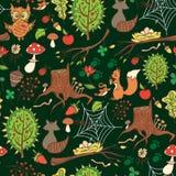 Vårskogbakgrund Arkivbild