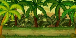 Vårskoglandskap, aldrig sinande vektornaturbakgrund stock illustrationer