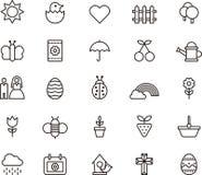 Vårsymboler vektor illustrationer