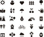 Vårsymboler stock illustrationer