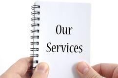 Vårt servicetextbegrepp Arkivbild