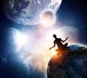 Vårt unika universum Blandat massmedia Arkivbild