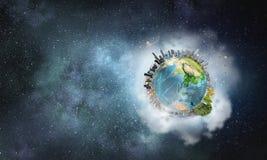 Vårt unika universum Blandat massmedia Arkivfoto