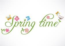 Vårtid uttrycker illustrationen Arkivbilder