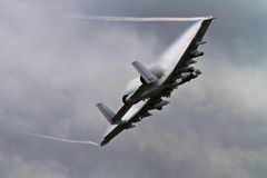 Vårtsvin Jet Aircraft för A-10 A10 Arkivfoto