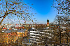 VårTurku cityscape Arkivbild