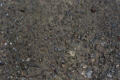 Våt betong med vatten och liten stenbakgrundstextur Royaltyfri Fotografi