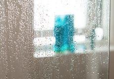 Våt duschskärm fotografering för bildbyråer