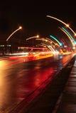 våt gata Arkivfoton