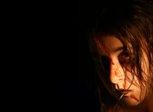 våt kuslig flicka Fotografering för Bildbyråer