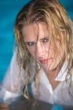 våt kvinna Royaltyfria Foton