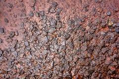 Våt Rusty Steel Metal Rough Surface bakgrund Fotografering för Bildbyråer