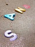 våt sand Fotografering för Bildbyråer