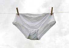 Våt underkläder. Arkivbilder