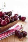 Våta Cherry Arkivbilder