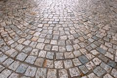 Våta förberedande stenar Royaltyfri Fotografi