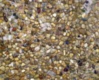 Våta kulöra stenar för textur Royaltyfria Foton