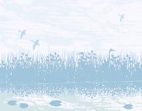 våtmark vektor illustrationer