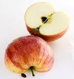 vått äpple royaltyfri fotografi