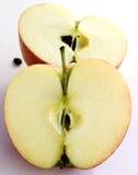 vått äpple arkivbild