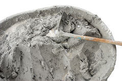 Vått cement Royaltyfria Bilder