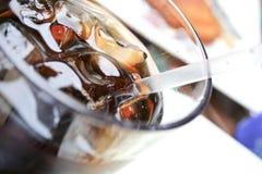 vått colaexponeringsglas Royaltyfri Bild