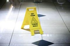 vått golv Arkivfoto