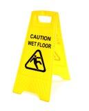 vått golvtecken Fotografering för Bildbyråer